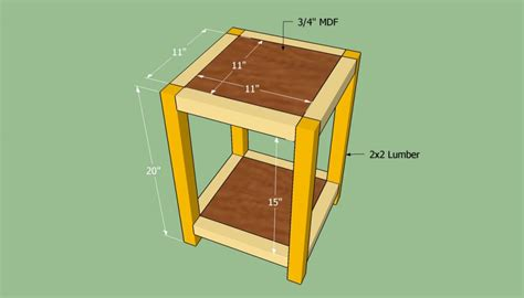 how to build an end table howtospecialist how to build step by step diy plans
