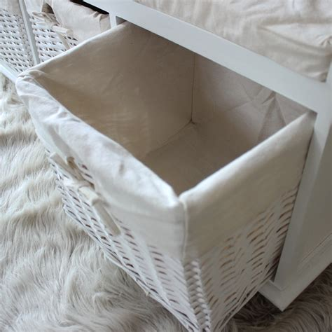 white wicker storage bench white wicker storage bench white wicker storage bench