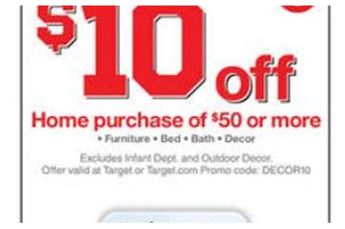 target coupon codes 15 off furniture