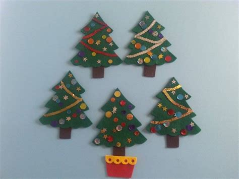 five little christmas trees felt board magic