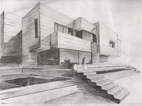 shading is used well to highlight both shadows and furniture within building dab103 pencil