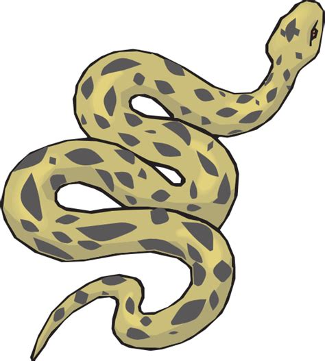 snake clipart slithering yellow snake clip at clker vector
