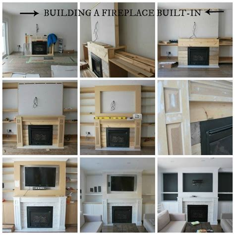 Built In Cabinets Living Room Diy Hometalk The Living Room A Fireplace Built In