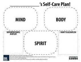 self care plan template self care plan counselling language