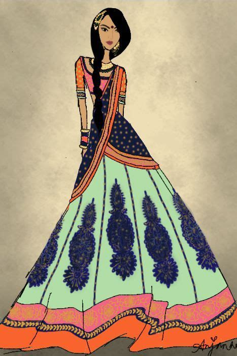 fashion illustration in india anjana croquis tribal style indian and
