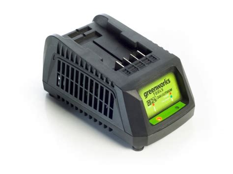 green charger fertilizer greenworks g24c 24v 45min charger