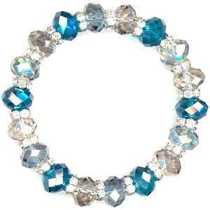 cosmic blue sparkles bracelet beaded jewelry kit