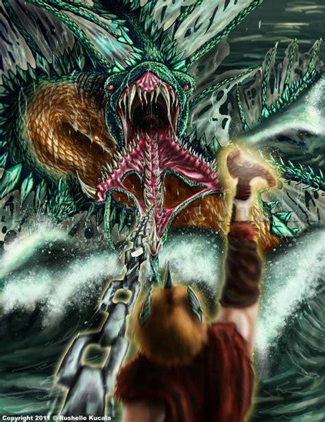 thor movie vs mythology midgard serpent picture midgard serpent image