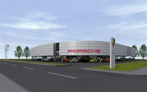 Porsche Autohaus by Projekte Industriebauten Porsche Ci Autohaus Archlab