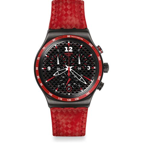 orologio swatch irony yvm401 rosso fuoco ean