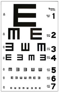 printable allen picture eye chart distance acuity charts