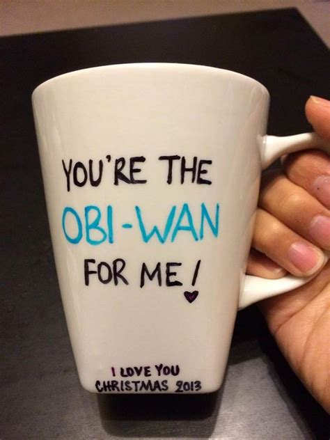 diy star wars gift sharpie mug star wars pinterest
