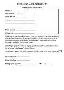 Photographic Release Form Template by Barnard Photography Model Release Form