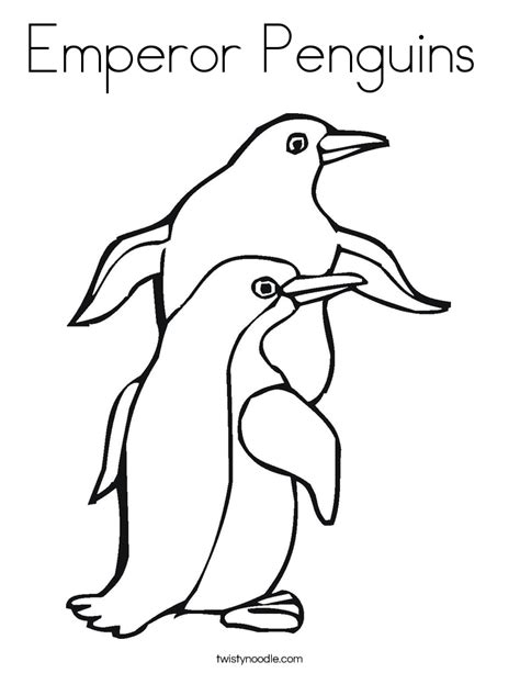 emperor penguins coloring page twisty noodle