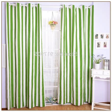 Green Striped Curtains Inspiration Green And White Striped Curtains