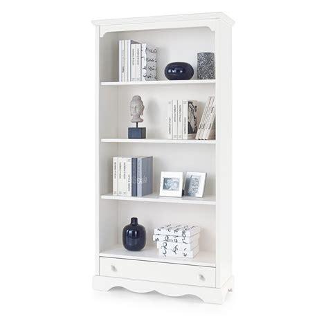 libreria legno bianco libreria in legno bianco con 4 ripiani e cassetto