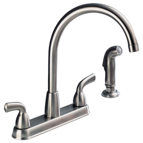peerless kitchen faucet repair parts p99578lf ss d two handle high arc kitchen faucet with spray
