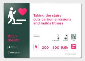 Take The Stairs Challenge by Smart Signs And Stair Climbing Challenges Stepjockey