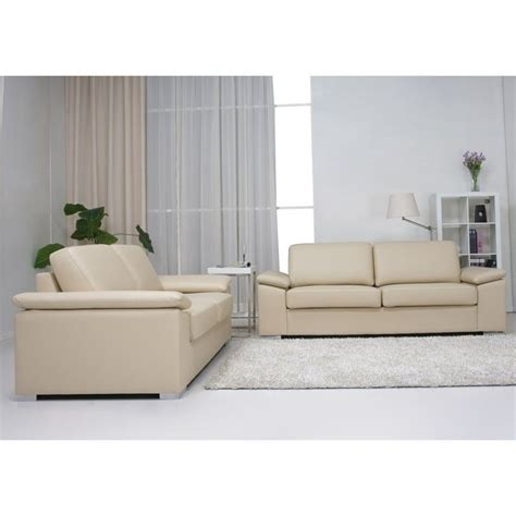 gold sparrow hton 2 leather sofa set in beige