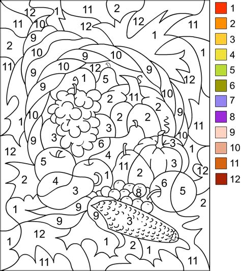 Thanksgiving Color By Number Pages s free coloring pages color by number