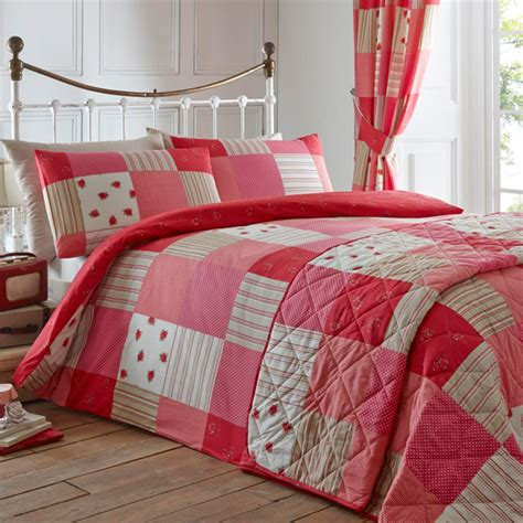 Patchwork Bed Cover - dreams n drapes patchwork duvet cover set ebay