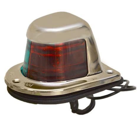 boat stern light color attwood 66318 1 green red 12v bi color stainless boat