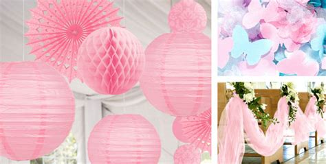 pink wedding decorations party city