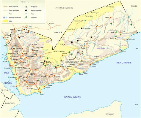yemen map map of yemen republic of yemen maps mapsof net