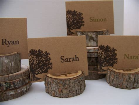 1000 ideas about rustic place cards on pinterest place woodland set of tree place card holders set of 23 plus small