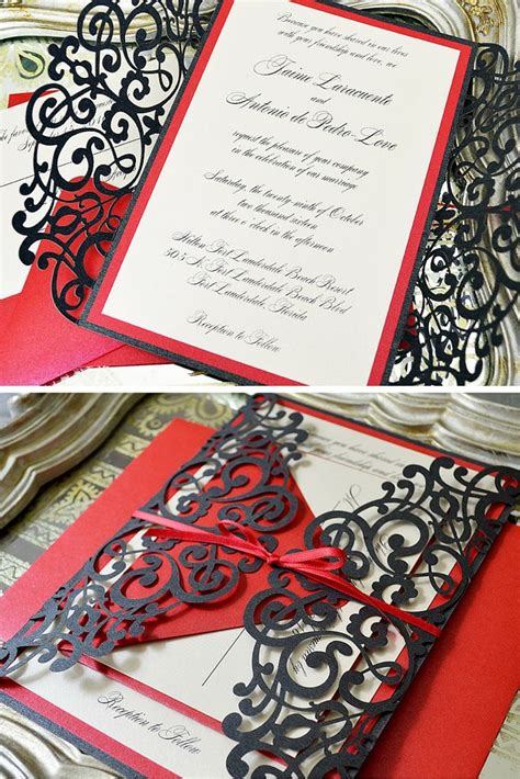 red printable wedding invitation kits red wedding invitation kits gallery of classic peacock