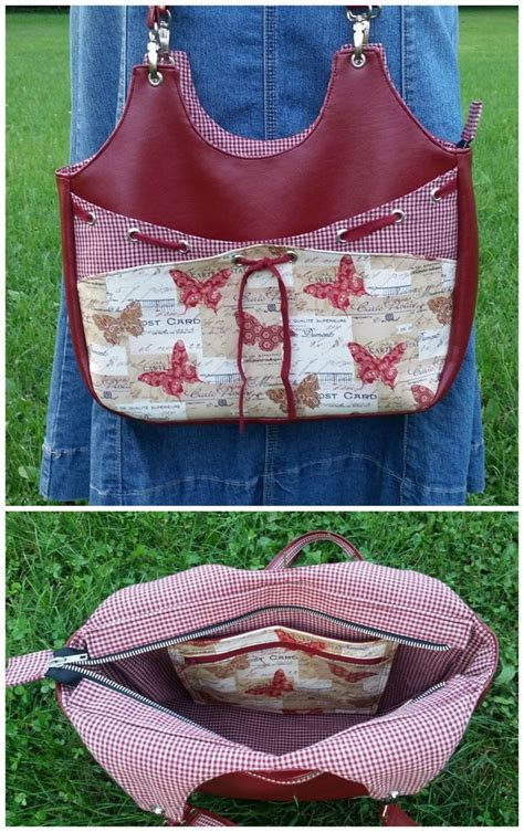 tote bag pattern with inside pockets very versatile purse sewing pattern check out the pretty