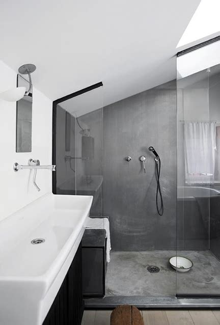 concrete bathrooms uniform design blog