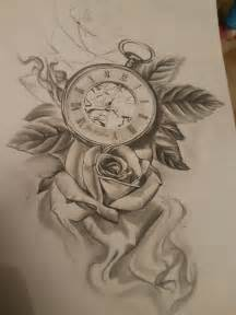 tattoo clock rose uhren pinterest tattoo clock