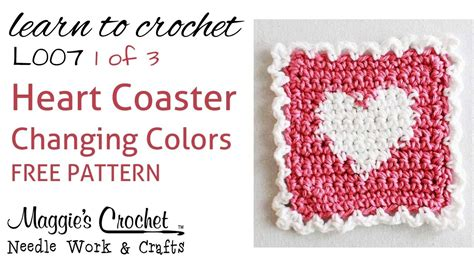 heart intarsia pattern part 1 of 3 learn crochet changing colors intarsia