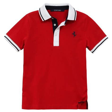 Tshirt Kaos Ferari polo shirt for boys melijoe
