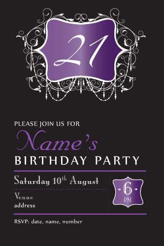 56 Best Images About Invitations For Women Birthday Invitations On Pinterest Birthday 21st Birthday Invitation Templates