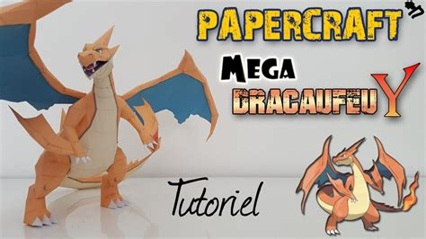 How To Make A Paper Charizard - papercraft mega charizard y easy tutorial