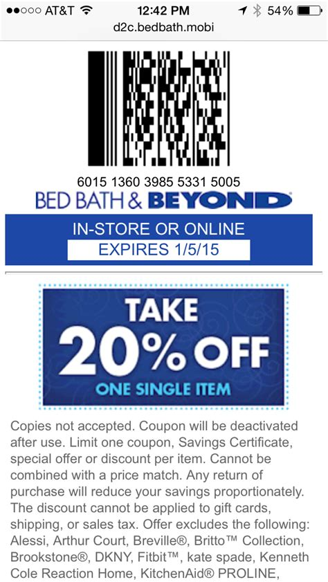 bed bath and beyond cbell 28 mobile coupon exles from top brands tatango