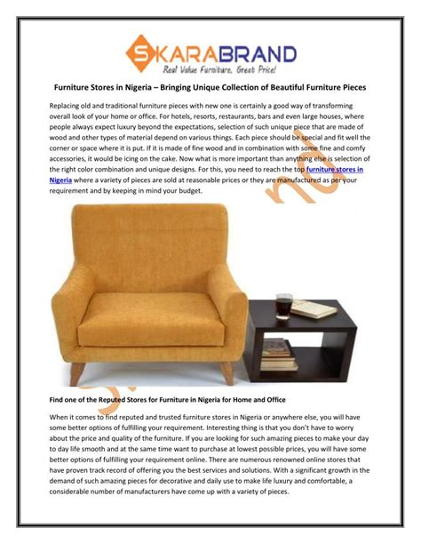 Furniture Stores Na Id by Ppt Furniture Stores In Nigeria Bringing Unique