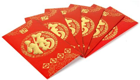 new year money in envelope envelope 6 pc set new year luck fortune