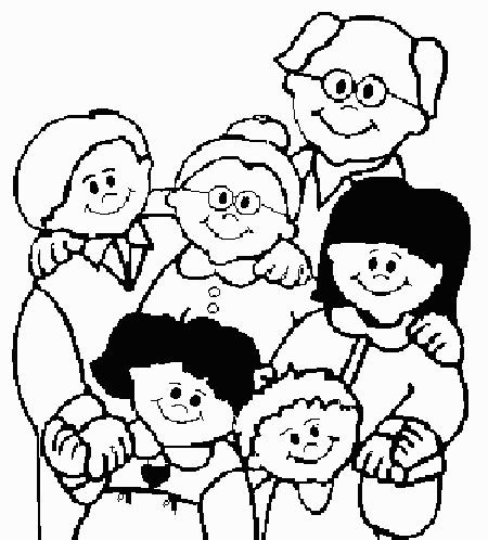 family portrait coloring page family members coloring pages imagui