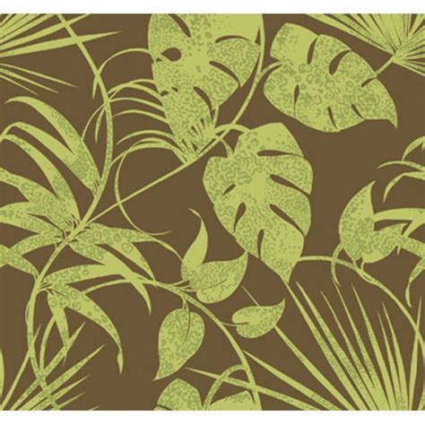Wall Murals Girls lime green tropical leaves on chocolate brown 27 quot wide
