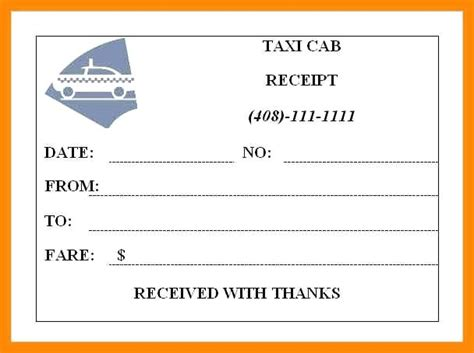 Seatac Taxi Receipt Template by Blank Taxi Receipts Mindofamillennial Me