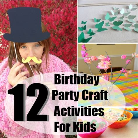 birthday craft projects kid birthday crafts