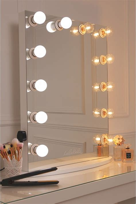 vanity mirror   pure white finish framed   led