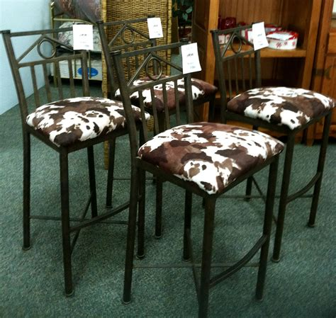 Stunning Cowhide Bar Stools by Stunning Cowhide Bar Stools Furniture
