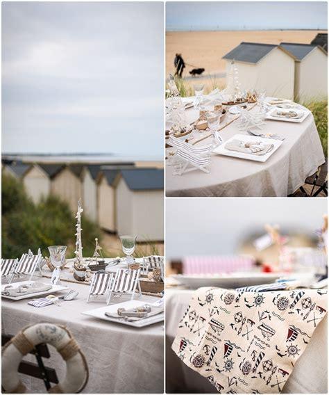 Decoration Table Mer by Un Bapteme Theme Marin En Bord De Mer