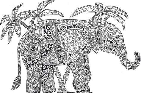 coloring pages abstract elephant abstract elephant coloring pages for adults flower