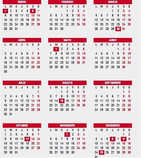 Calendario Por Semana Consulta El Calendario Laboral 2018 Festivos Por Ciudad
