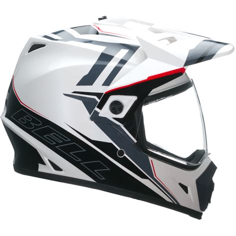 white motocross helmets bell mx 9 adventure barricade white motocross helmet mx